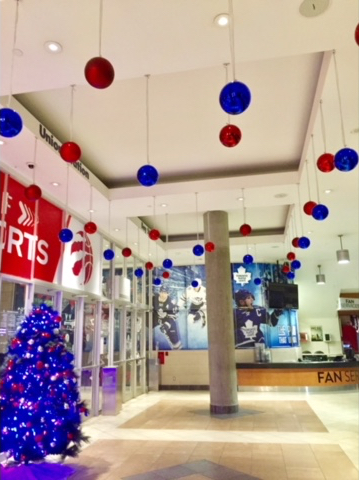 Christmas Decorations at the Air Canada Centre
