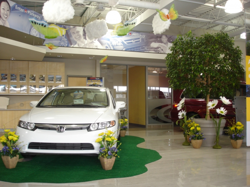 Honda Car Showroom Decorations