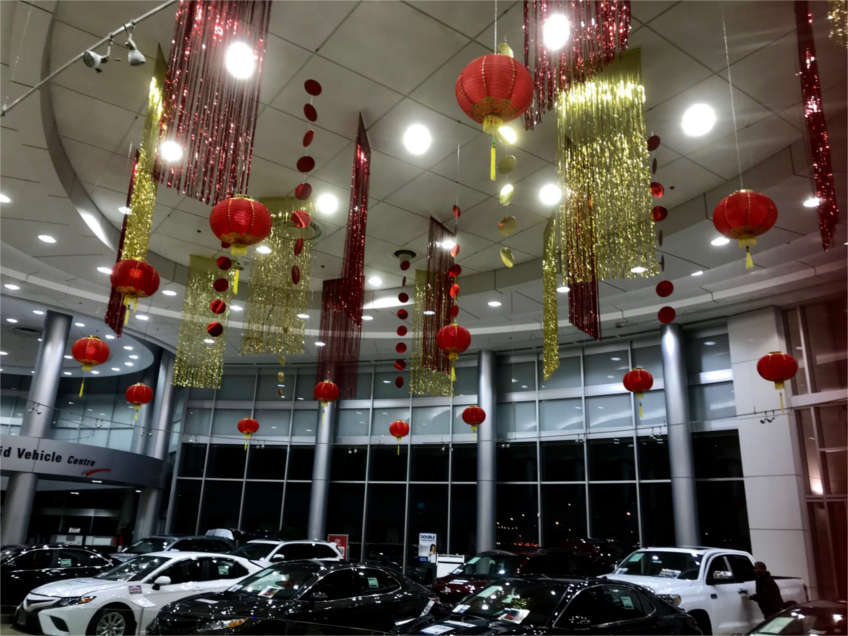 Chinese New Year Decorations for Toyota Car Showroom